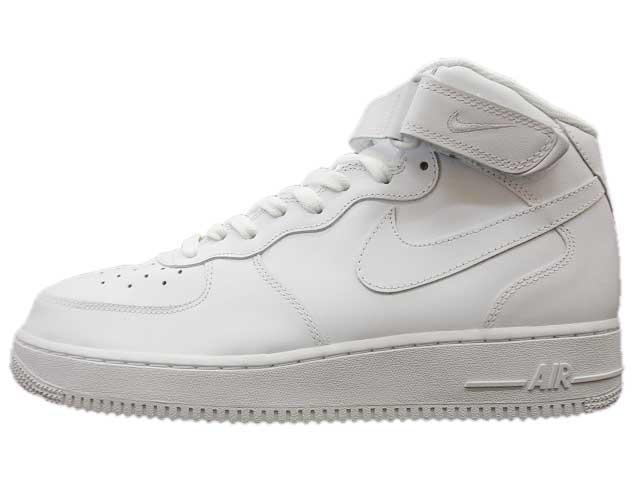 white white white nike Air Force 1 Mid shoes 1