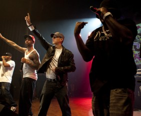Eminem performs with Yelawolf & Slaughterhouse at Shady 2.0 event at Royal Oak Music Theatre