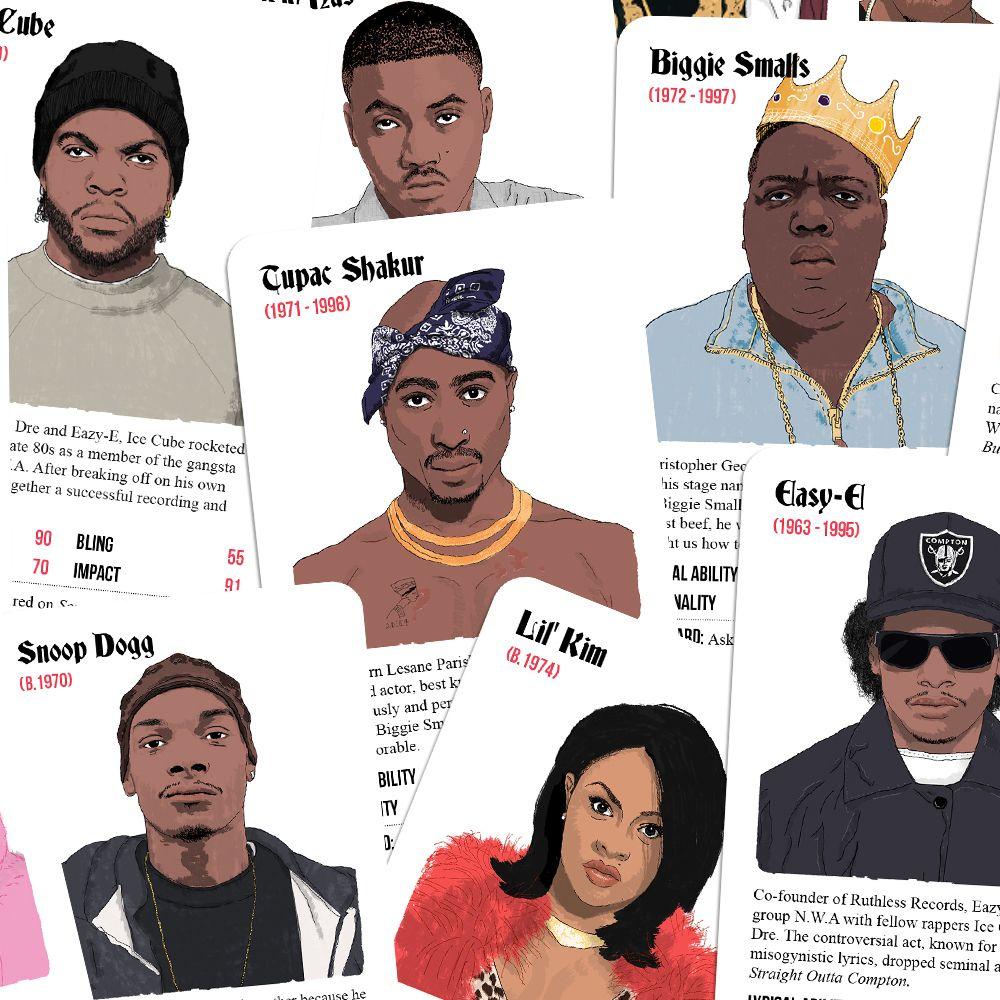 'Rapper Trumps' : le jeu de cartes spécial hip-hop 90's