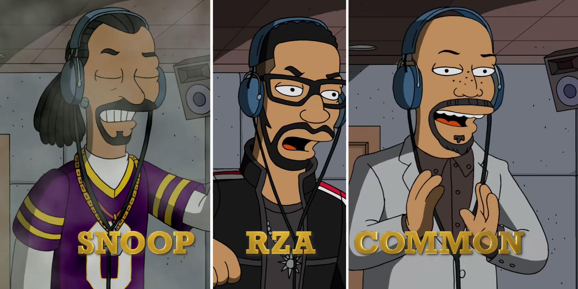 RZA, Snoop et Common dans l'épisode spécial hip-hop des Simpson